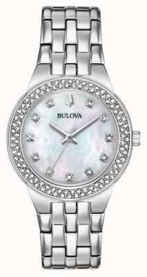Bulova Zestaw damski z kryształowym zegarkiem i zawieszką 96X144