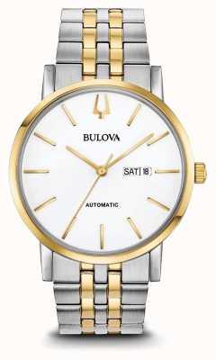 Bulova Klasyczny męski automatyczny dwukolorowy zegarek 98C130