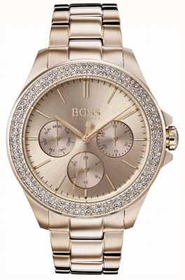 Hugo Boss Damska premiera kryształu pozłacana bransoletka 1502443