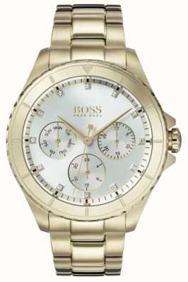 Hugo Boss Damska premiera pozłacana bransoletka srebrna tarcza 1502445