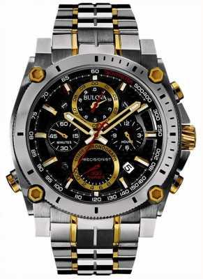 Bulova Męski, precyzyjny zegarek ze stali nierdzewnej i złota 98B228