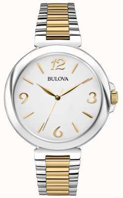 Bulova Damski zegarek ze stali damskiej o dwóch odcieniach 98L194