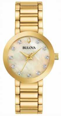 Bulova Damski zestaw zegarków ze złotym pvd 97P133