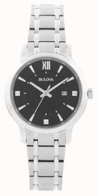 Bulova Damski zegarek ze stopu kryształowego ze stali nierdzewnej 96P185