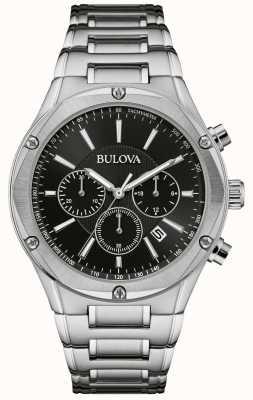 Bulova Męski zegarek ze stali nierdzewnej chronograf 96B247