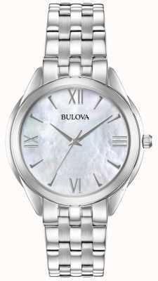 Bulova Zegarek ze stali nierdzewnej z perłą ze stali nierdzewnej 96L268
