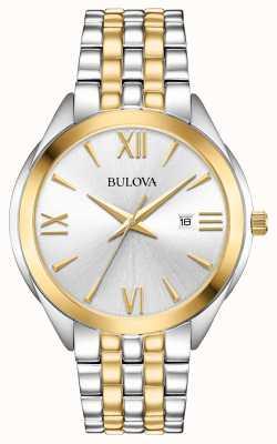 Bulova Męski, dwukolorowy zegarek ze stali nierdzewnej 98B331