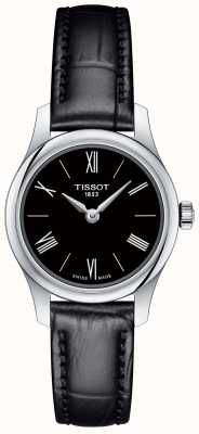 Tissot Tradycja damska 5.5 czarny skórzany pasek czarna tarcza T0630091605800