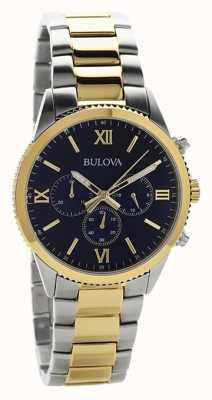Bulova Dwukolorowy damski zegarek chronograf 98A220