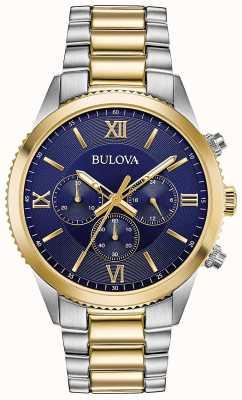 Bulova Damski zegarek z chronografem | pasek ze stali nierdzewnej | 98A220