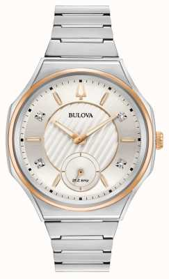 """Bulova Zegarek ze srebra typu """"unisex"""" ze skosem i srebrem 98P182"""