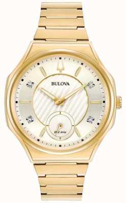 Bulova | curv | kobiety | bransoletka ze złotym tonem | 97P136