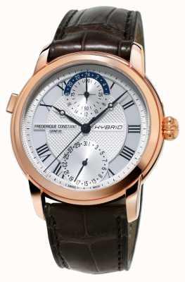 Frederique Constant Hybrydowa produkcja 3.0 automatyczny brązowy pasek do zegarka smartwatch FC-750MC4H4