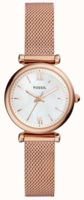 Fossil Zegarek damski mini bransoletka z różowego złota bransoletka carlie ES4433