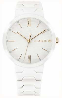 Tommy Hilfiger Zegarek damski biały ceramiczny zegarek avery 1781956