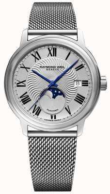 Raymond Weil Męski maestro moonphase watch pasek ze stali nierdzewnej 2239M-ST-00659