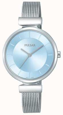 Pulsar Damski pasek ze stali nierdzewnej z niebieską tarczą PH8411X1