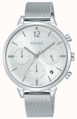 Pulsar Damska tarcza chronografu ze stali nierdzewnej PT3943X1