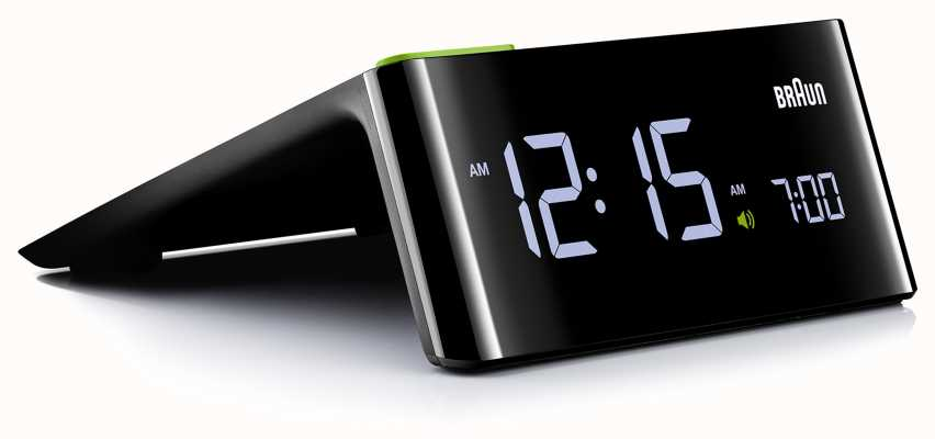 Braun Cyfrowy budzik przy łóżku | wyświetlacz LCD BNC016BKUK