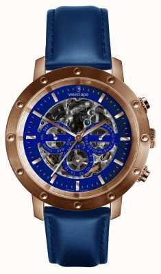 Weird Ape Icarus 3 Dial niebiesko-różowe złoto / indygo niebieski pasek skórzany WA02-005730