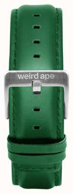 Weird Ape Szmaragdowa skórzana srebrna klamra 20mm ST01-000110