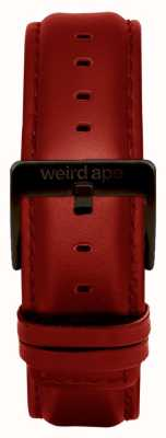Weird Ape Czerwona skórzana klamra w kolorze 20mm, czarna klamra ST01-000077