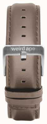 Weird Ape Skórzana skórzana srebrna klamra 20mm ST01-000101