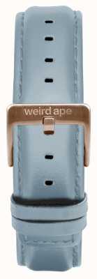 Weird Ape Skórzana granatowa klamra z 16mm różowego złota ST01-000029