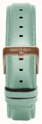 Weird Ape Zielona skórzana klamra z 16mm różowego złota ST01-000042