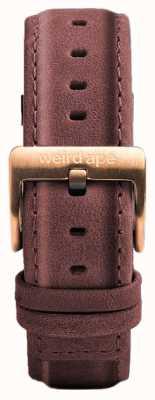 Weird Ape Pastelowa różowa skórzana klamra z 16 mm różowego złota ST01-000033