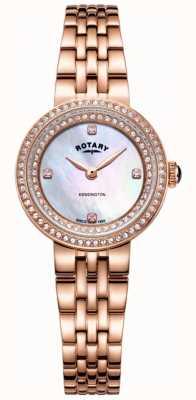 Rotary Damski zegarek ze złotej bransoletki Kensington LB05374/41