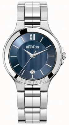 Michel Herbelin Męski zegarek newport z niebieską tarczą 12298/B15