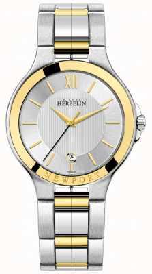 Michel Herbelin Mens newport royale dwubarwna srebrno-złota bransoleta 12298/BT11