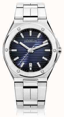 Michel Herbelin Męski zegarek ze stali nierdzewnej z niebieską tarczą 12245/B15