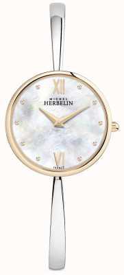 Michel Herbelin Zegarek damski z różowego złota, srebrny bransoletka 17418/BTR19