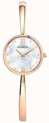 Michel Herbelin Damski zegarek z różowego złota z różowego złota 17408/BPR19