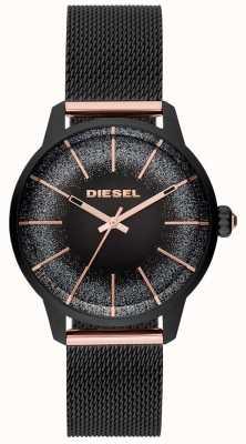 Diesel Damska bransoleta z czarnego i różowego złota z kastylia DZ5577