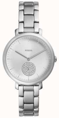 Fossil Zegarek ze srebra kobiet ze stali nierdzewnej w kolorze srebrnym ES4437