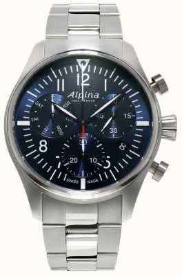 Alpina Męski zegarek startowy chronograf ze stali kwarcowej AL-371NN4S6B