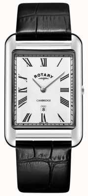 Rotary Męski zegarek z czarnej skóry w stylu cambridge GS05280/01