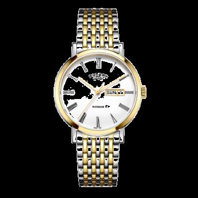 Rotary Męski windsor dwukolorowy srebrno-złoty zegarek GB05302/01