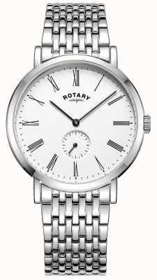 Rotary Zegarek męski ze stali nierdzewnej z odsłoniętą bransoletką GB05310/01