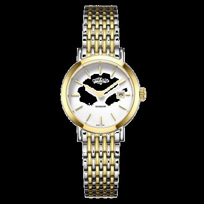 Rotary Zegarek damski z dwukolorowym złotym i srebrnym bransoletką LB05302/01