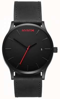 MVMT Klasyczna czarna skóra | czarny pasek | czarna tarcza D-L213.5L.551