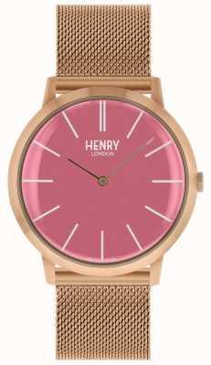 Henry London Kultowa różowa bransoletka z różowego złota HL40-M-0312
