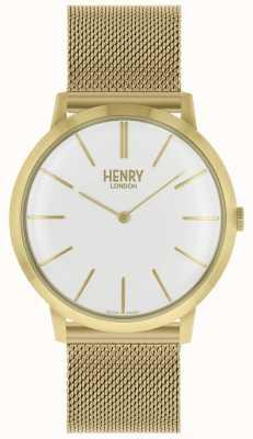 Henry London Kultowa bransoletka z białej, białej bransoletki z tarczą HL40-M-0250
