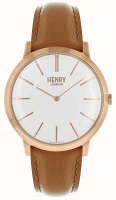 Henry London Charakterystyczny biały skórzany pasek z tasiemką w kolorze różowym HL40-S-0240