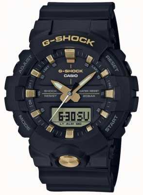 Casio Analogowe cyfrowe cyfrowe analogowe G-shock, czarne matowe złoto GA-810B-1A9ER