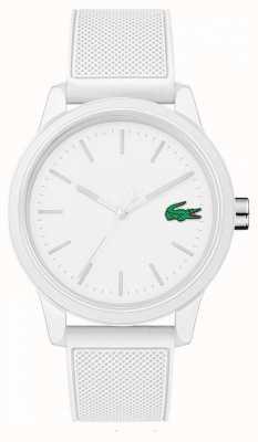 Lacoste Zegarek z białej gumy 12.12 2010984