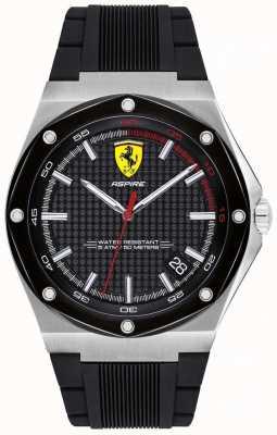 Scuderia Ferrari Męski pasek z czarnym gumowym datownikiem 0830529